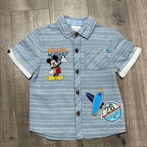 Mickey Mouse button up